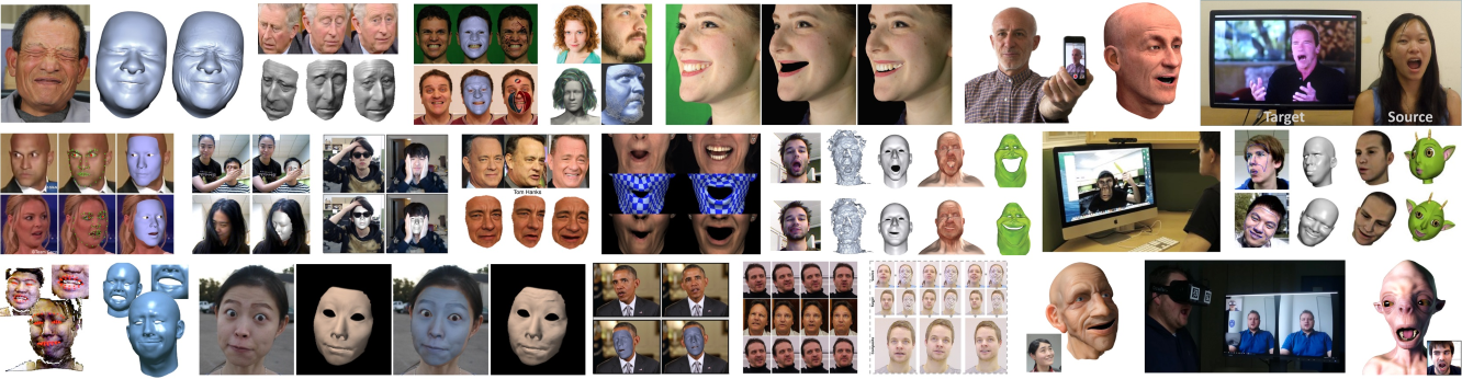 State of the Art on Monocular 3D Face <BR> Reconstruction, Tracking